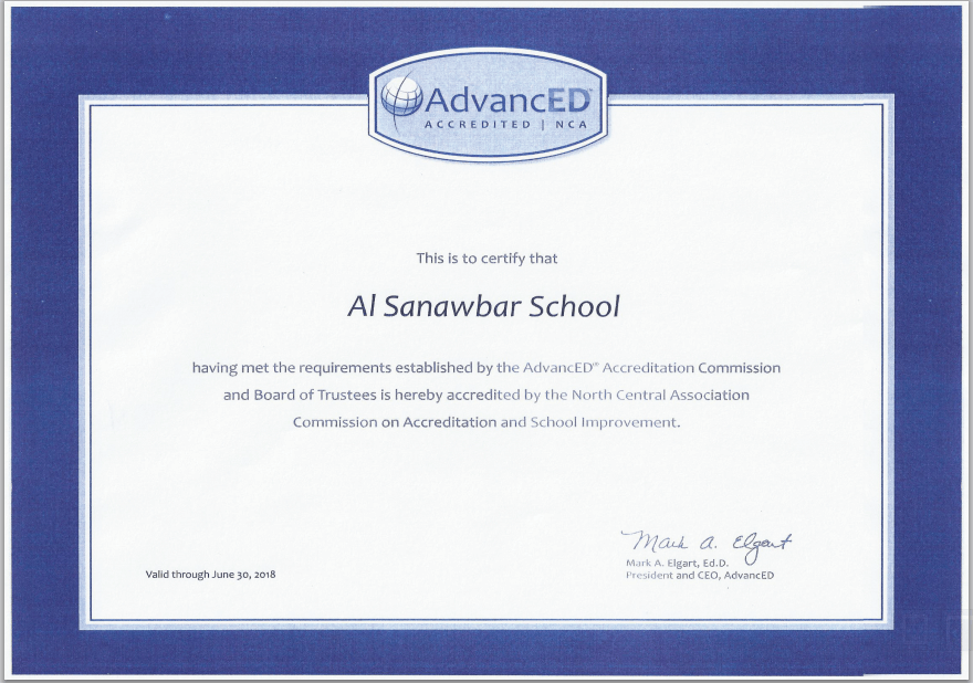 Our Advanced Certificate